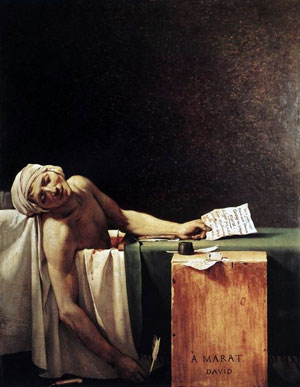 Morte di Marat, di Jacques-Louis David, 1793