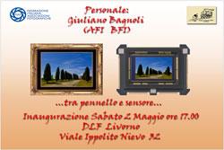 """Il Gruppo Fotografico DLF Livorno presenta: """"Paesaggi - Tra pennello e sensore"""", mostra personale di GIULIANO BAGNOLI. Livorno, fino al 31 maggio 2015"""